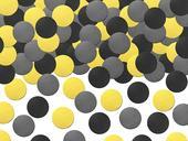 Konfety žlto čierne,