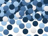 Dekoračné konfety modré,