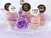 Ozdoby na cupcakes Sweet love (6ks),