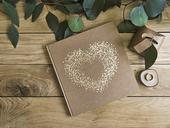 Svadobná kniha hostí Gold heart,