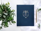 Svadobná kniha hostí Royal tmavomodrá,