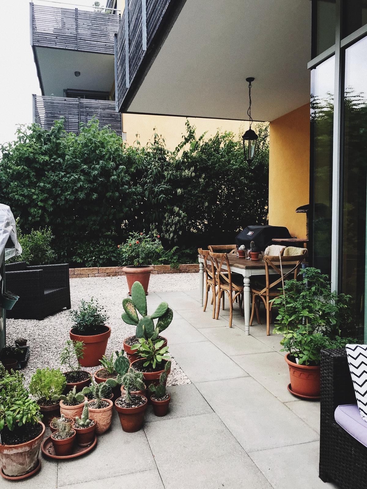Terasa+ zahrada vzadu.. - Pri murik vysadim hortenzie.. 😍😍😍 nech tam je troska farby..