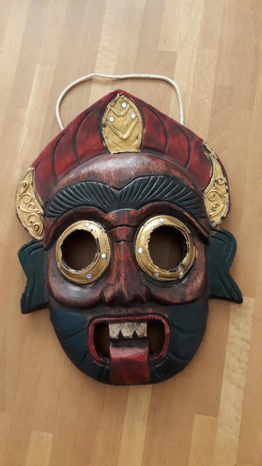 Thajská maska -totem - aj ako darček - Obrázok č. 1