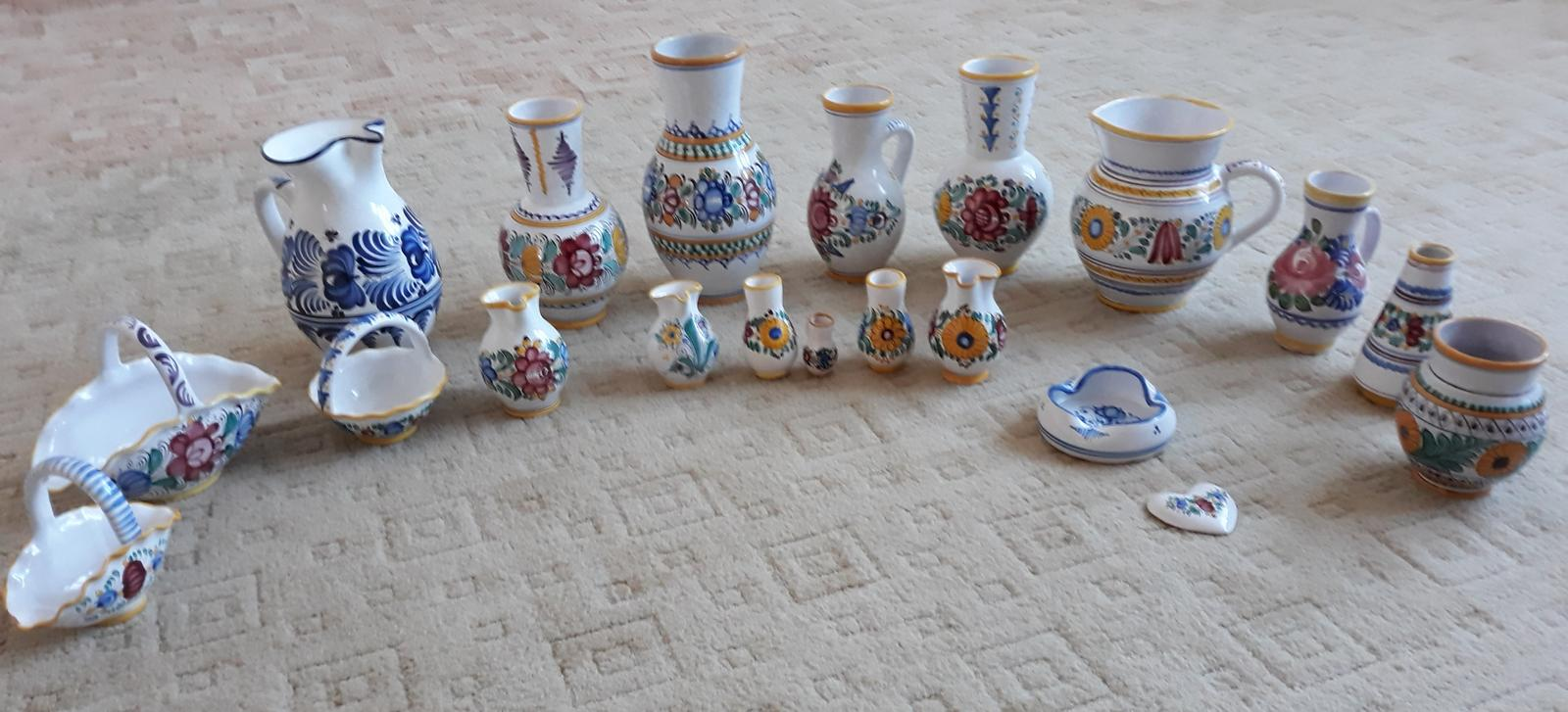 Originál Modranská keramika-z r.1970-1990-50ks - Obrázok č. 1