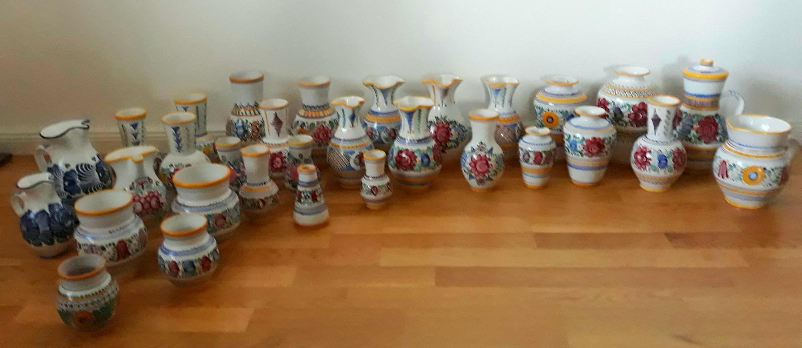 Originál Modranská keramika-z r.1970-1998-52ks - Obrázok č. 1