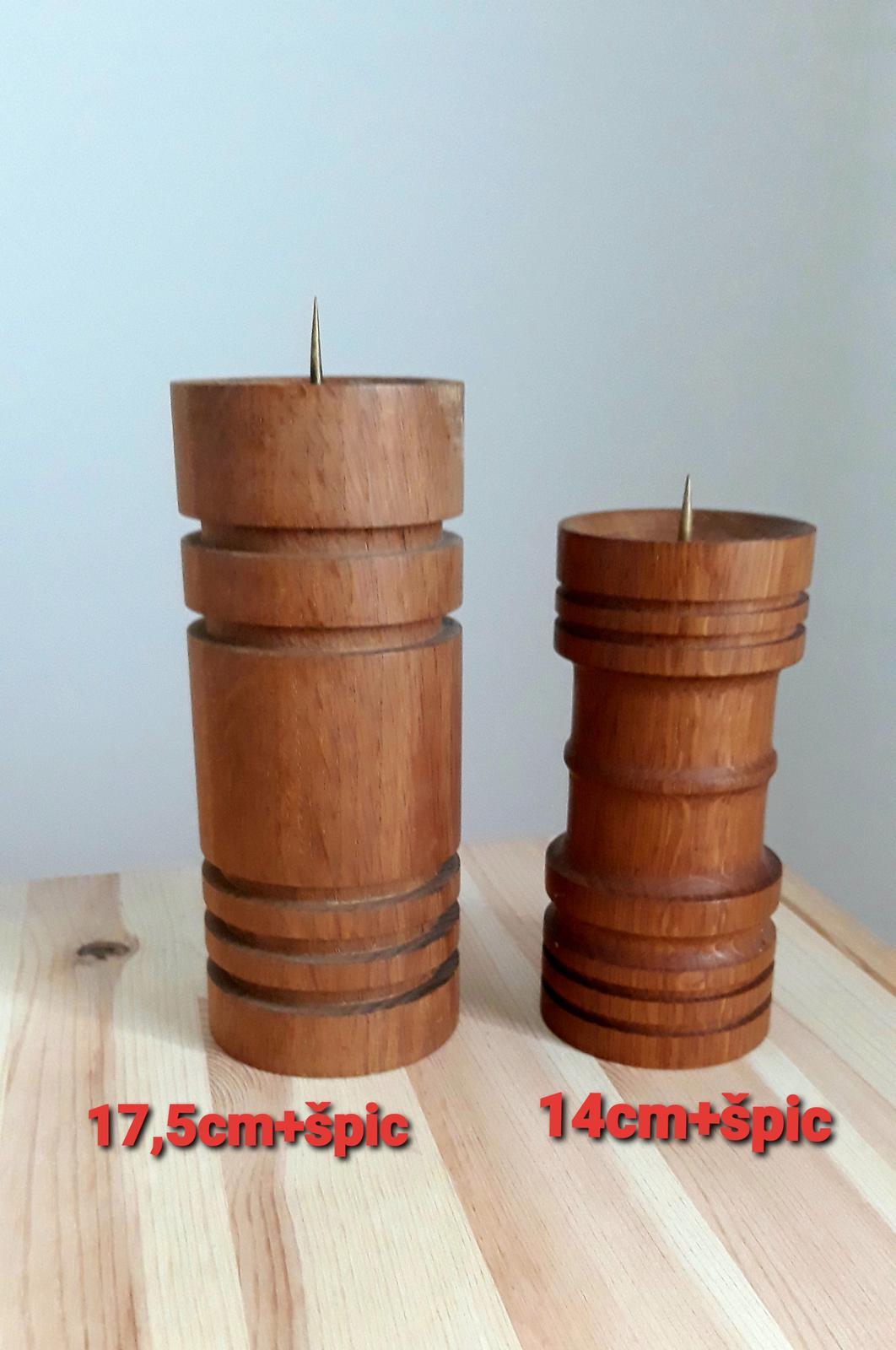 Drevené svietniky-cena za sadu - Obrázok č. 1