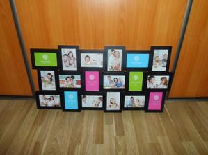konečne som našla rám, ktorý vyhovuje mojim požiadavkam - 18 ks fotiek :)