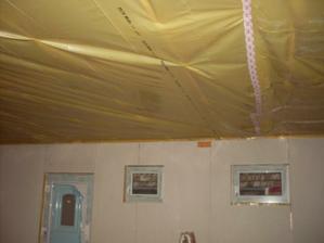 izolácia stropu hotová