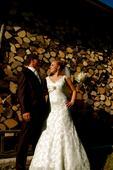 Originálne čipkované svadobné šaty veľ. 36/38 , 38