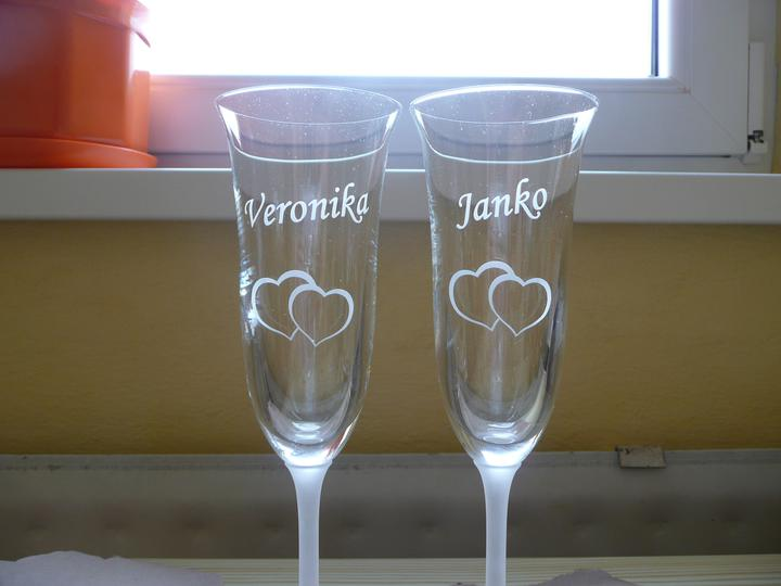 Pripravy - Nase svadobne pohare fotene narychlo :-)))
