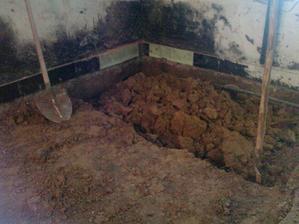 Znizovanie podlahy o 50cm