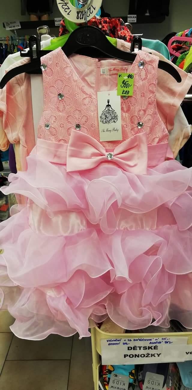Nádherné šaty vel. 110 - Obrázek č. 1