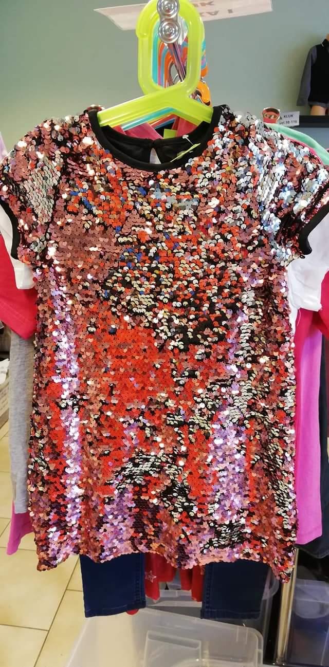 Flitrové šaty vel. 110 - Obrázek č. 1