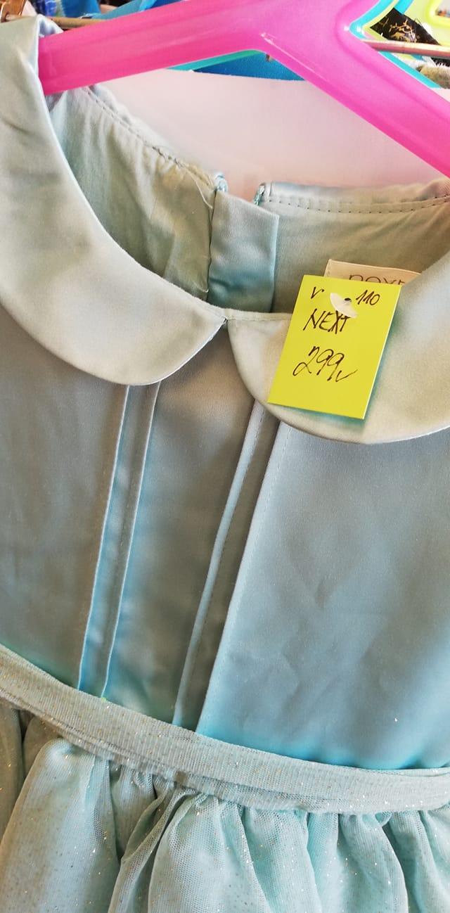 třpytivé šaty Next vel. 110 - Obrázek č. 2
