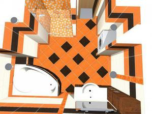 podlaha bude obrácene - hnedá s oranžovým