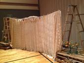 Vzorovaná záclona (pozadí, baldachýn na trámy) 7m,
