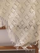 Zimní svatba - pletený šál,