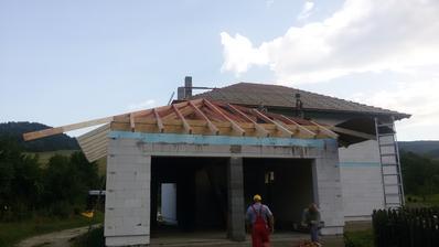 14.9.2015 - krov na garážovú strechu