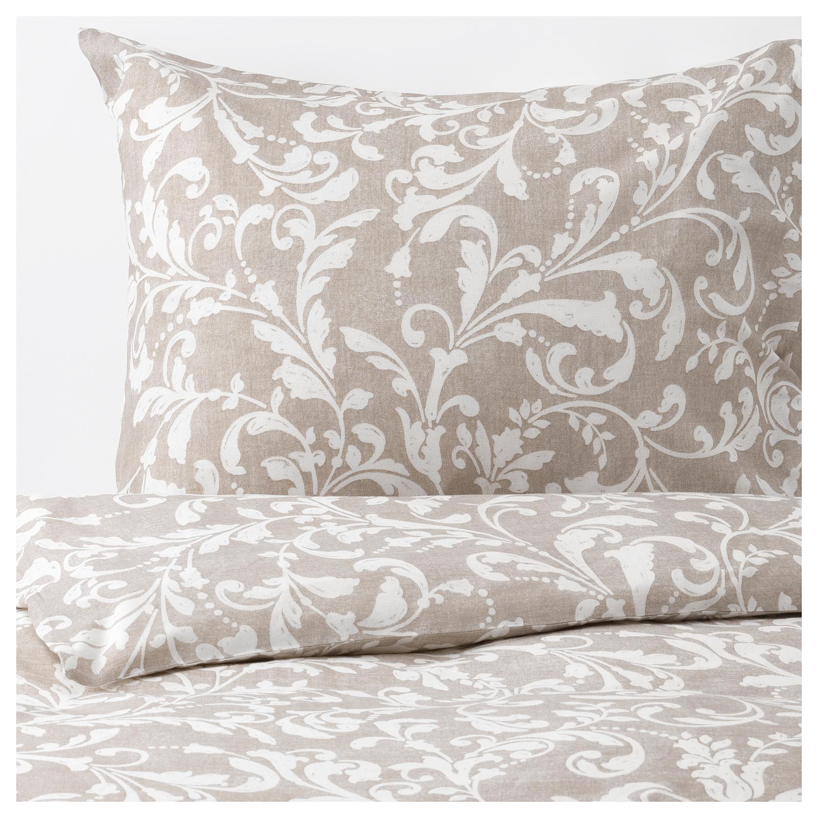 Spálňa - zmena - VÅRBRÄCKA Posteľné obliečky, béžová, biela ... nové posteľné prádlo ... už len to drevo nám tam chýba :) ...