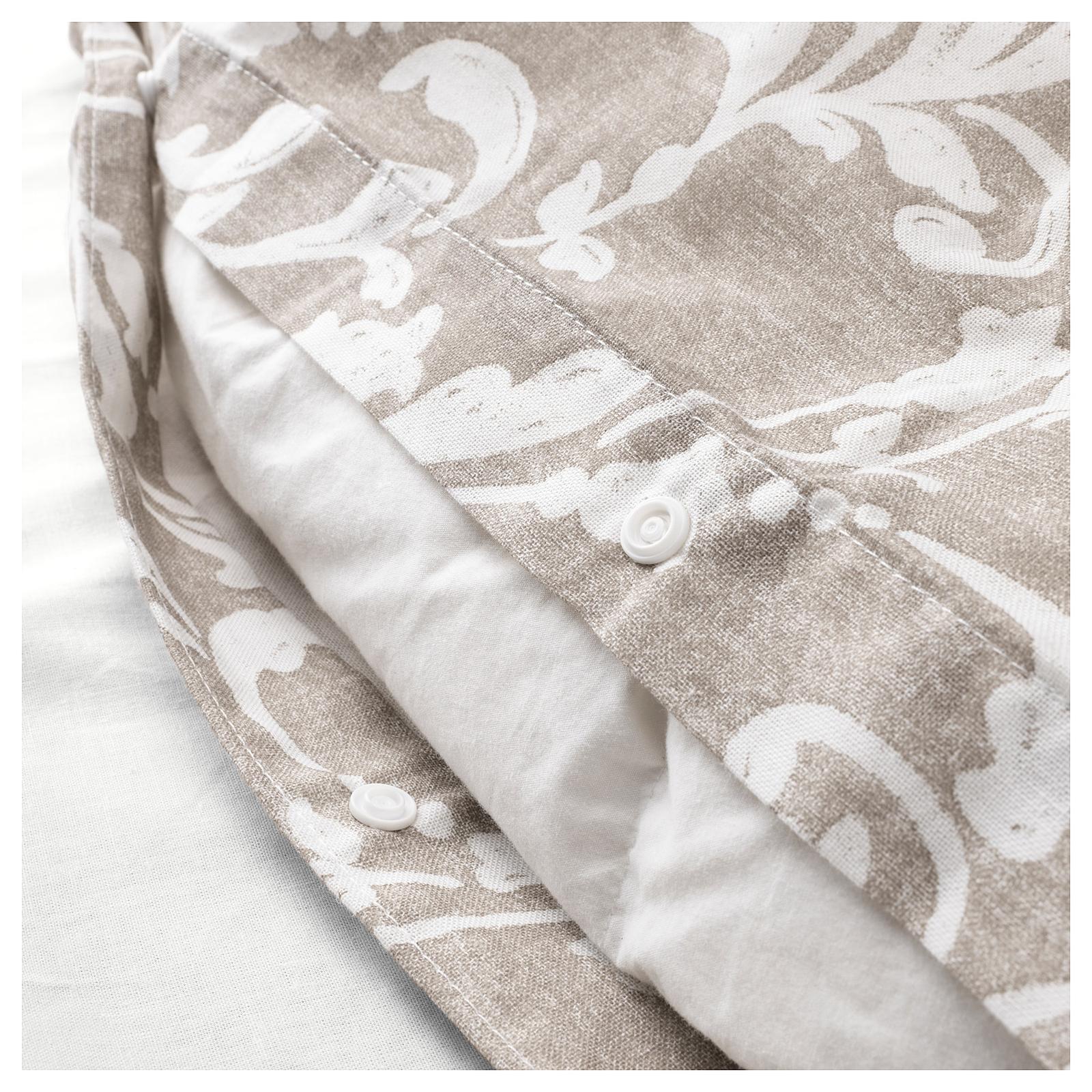 Spálňa - zmena - VÅRBRÄCKA Posteľné obliečky, béžová, biela