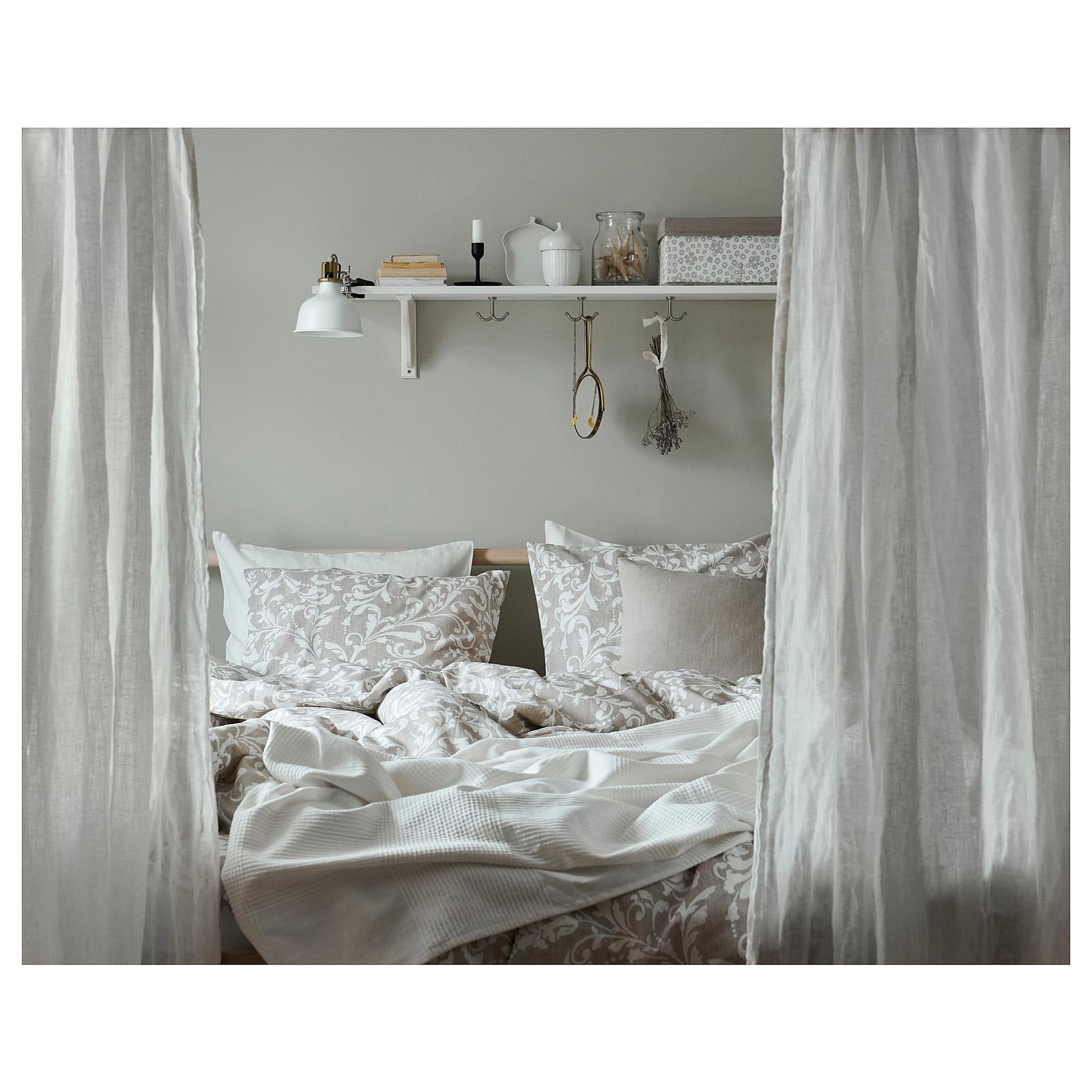 Spálňa - zmena - VÅRBRÄCKA Posteľné obliečky, béžová, biela inšpirácia ikea
