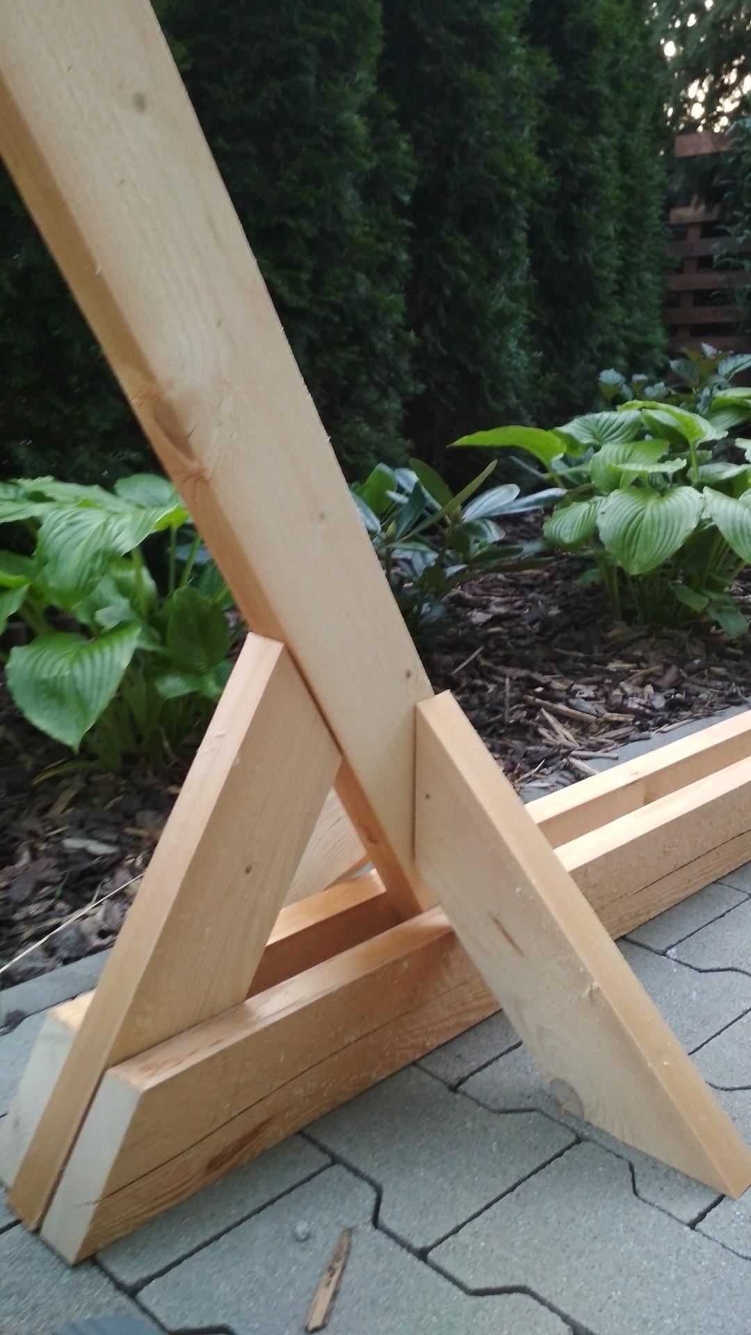 Drevený stojan na hojdaciu sieť... relax v záhrade - Obrázok č. 12