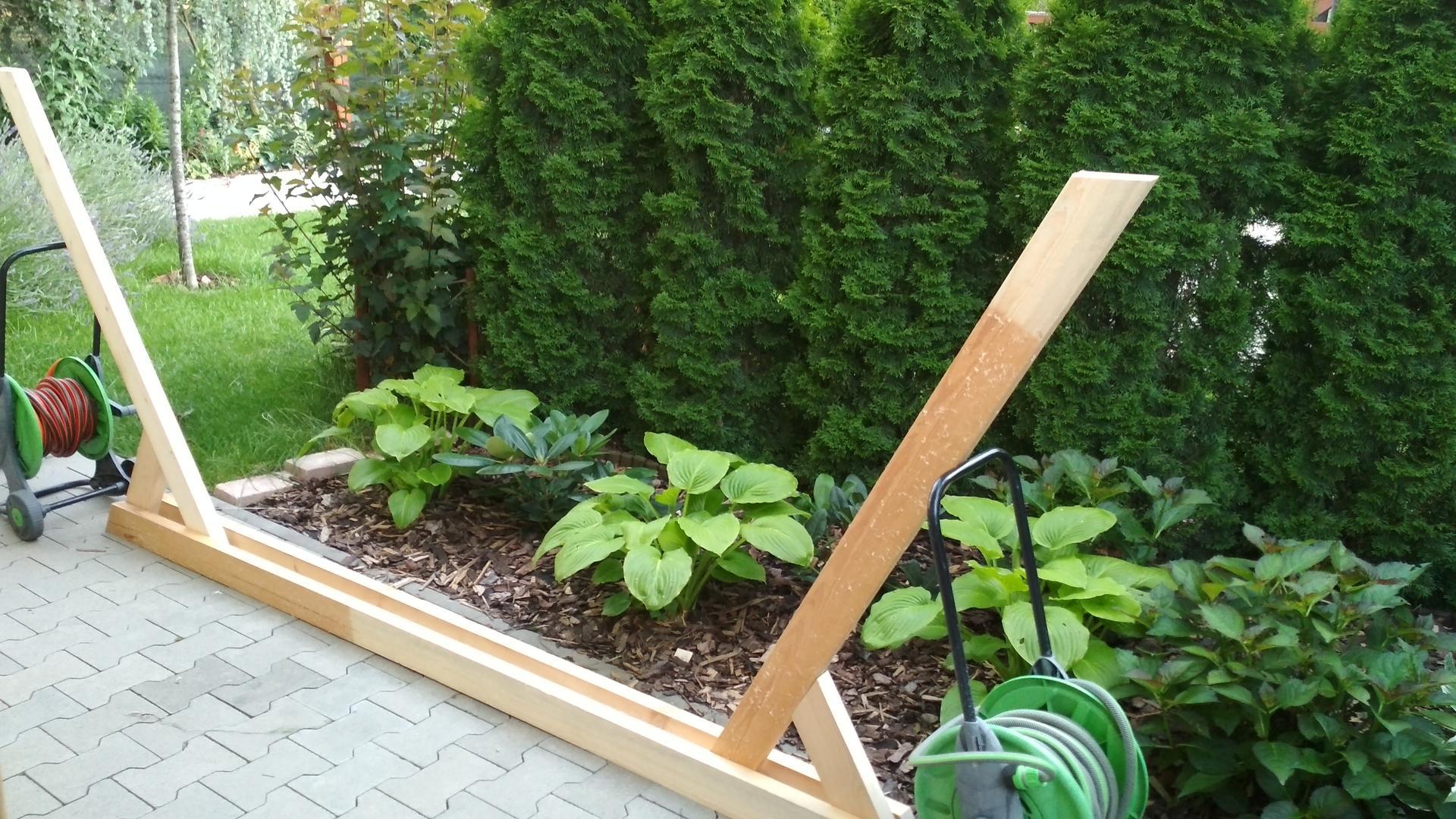 Drevený stojan na hojdaciu sieť... relax v záhrade - Obrázok č. 16