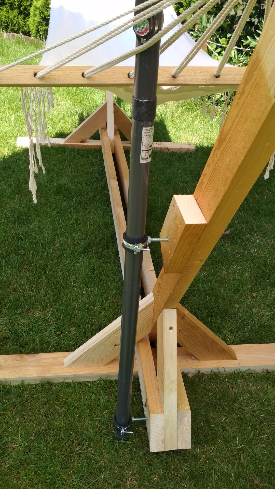 Drevený stojan na hojdaciu sieť... relax v záhrade - Obrázok č. 17