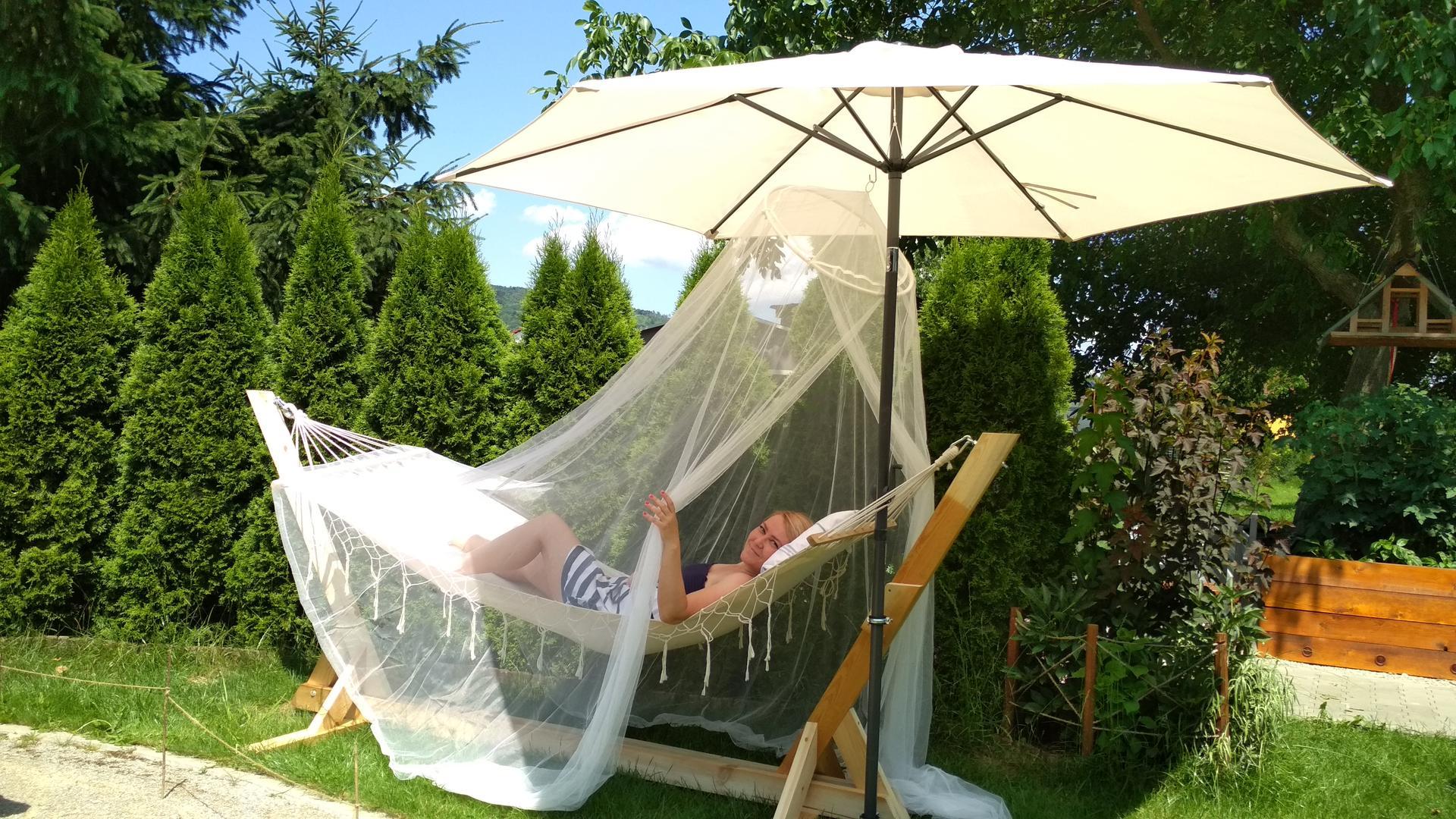 Drevený stojan na hojdaciu sieť... relax v záhrade - Obrázok č. 3