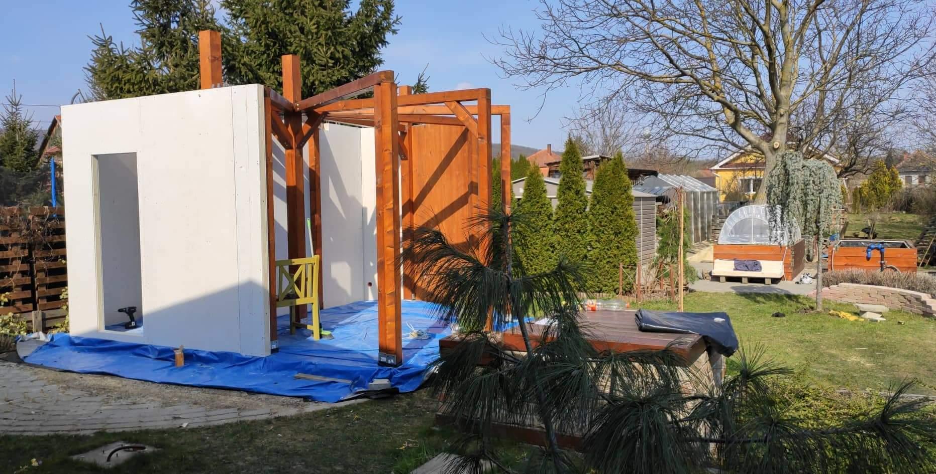 Relaxačný domček sauna a oddychová miestnosť ... plány, príprava a realizácia - Obrázok č. 74