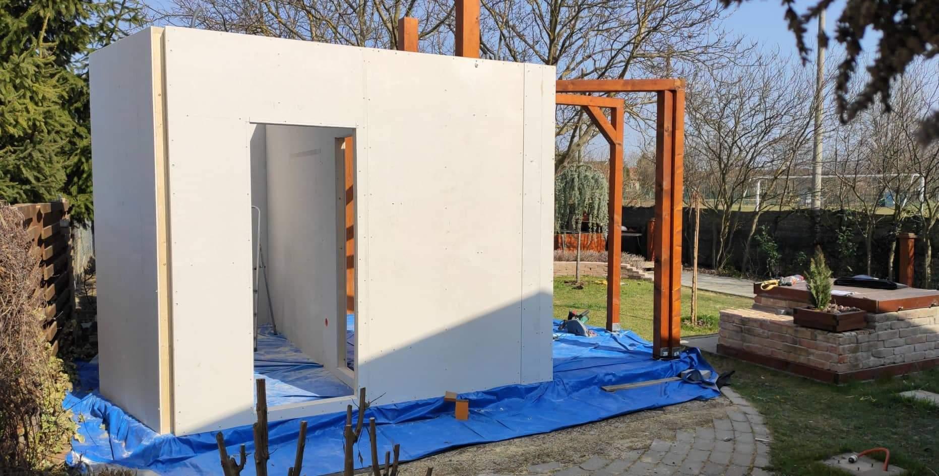 Relaxačný domček sauna a oddychová miestnosť ... plány, príprava a realizácia - Obrázok č. 77