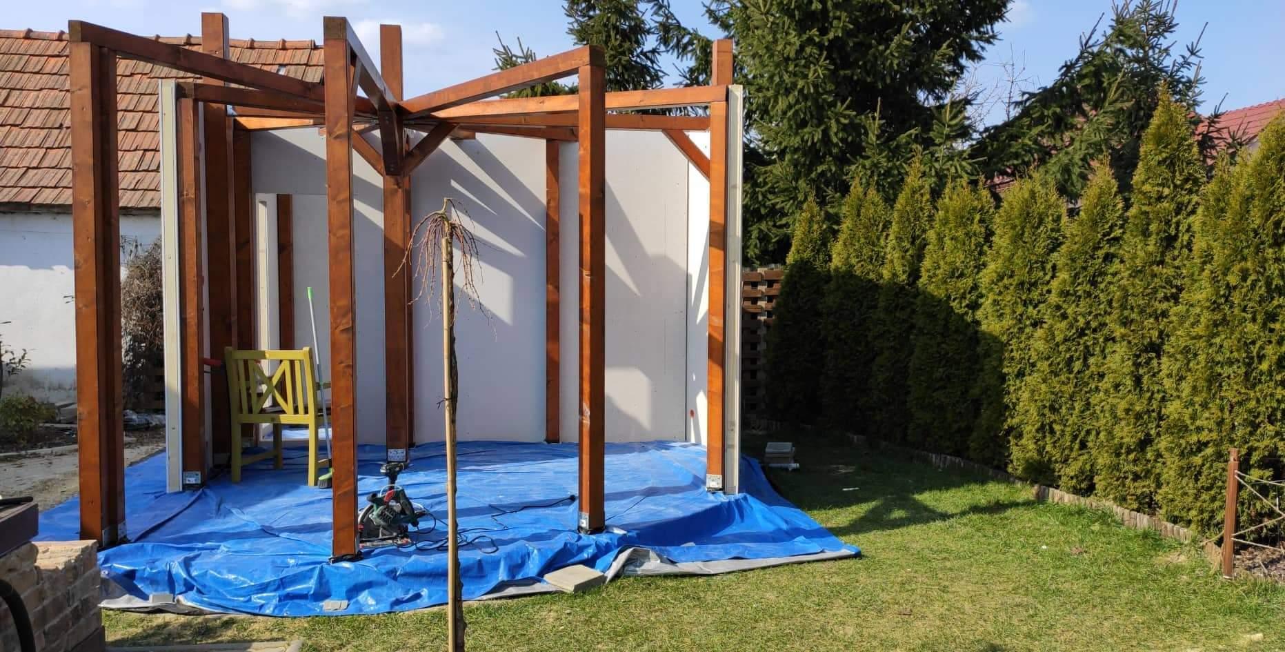Relaxačný domček sauna a oddychová miestnosť ... plány, príprava a realizácia - Obrázok č. 75