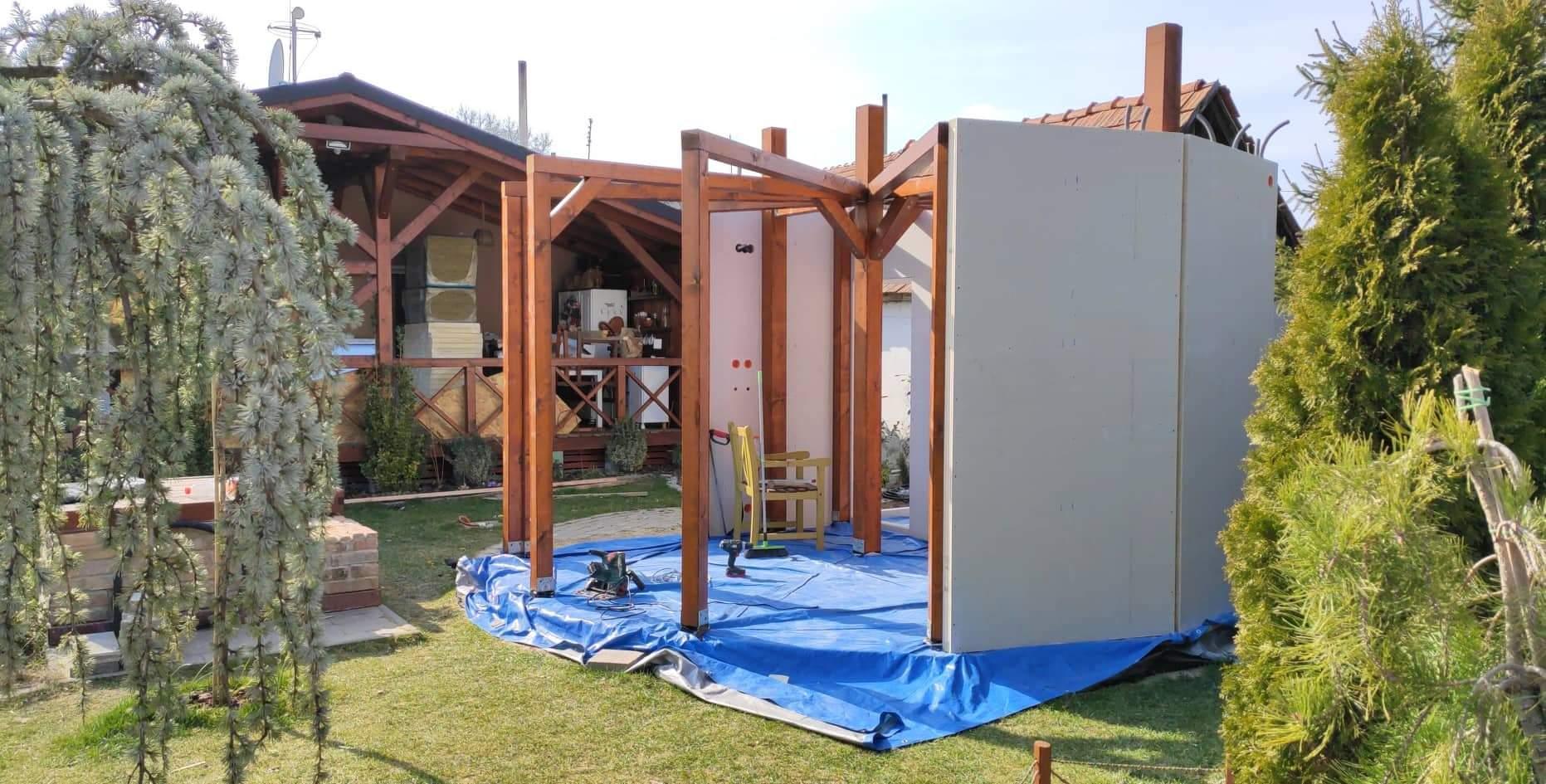Relaxačný domček sauna a oddychová miestnosť ... plány, príprava a realizácia - Obrázok č. 76