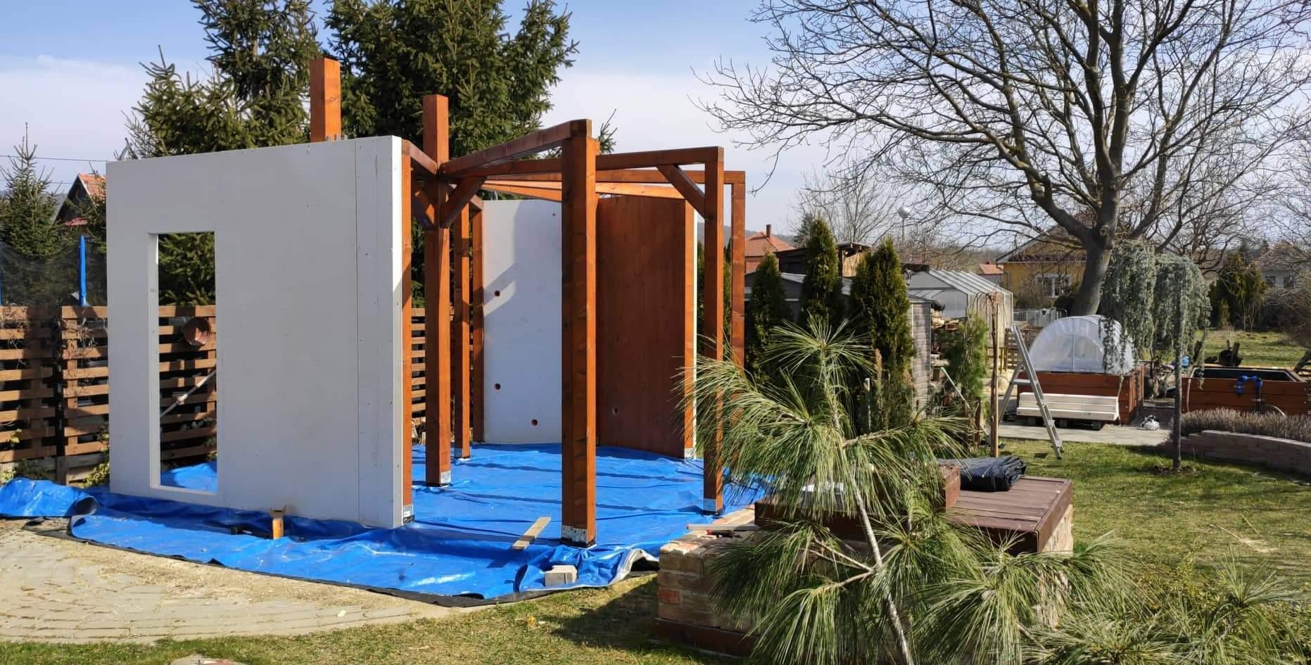 Relaxačný domček sauna a oddychová miestnosť ... plány, príprava a realizácia - Obrázok č. 79