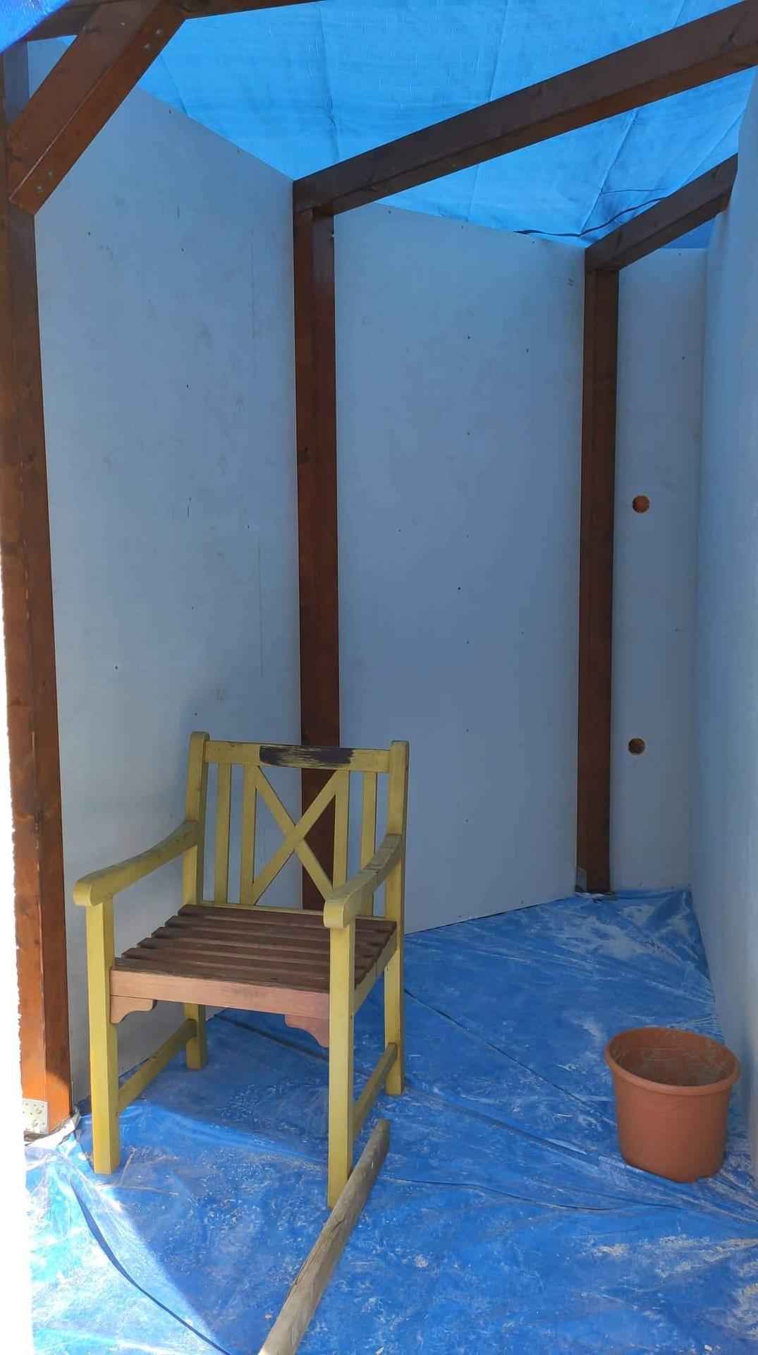 Relaxačný domček sauna a oddychová miestnosť ... plány, príprava a realizácia - Obrázok č. 84
