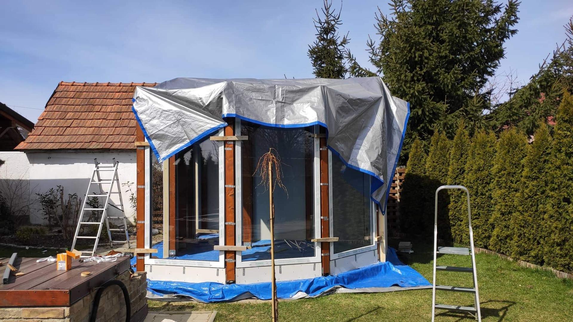 Relaxačný domček sauna a oddychová miestnosť ... plány, príprava a realizácia - Obrázok č. 81