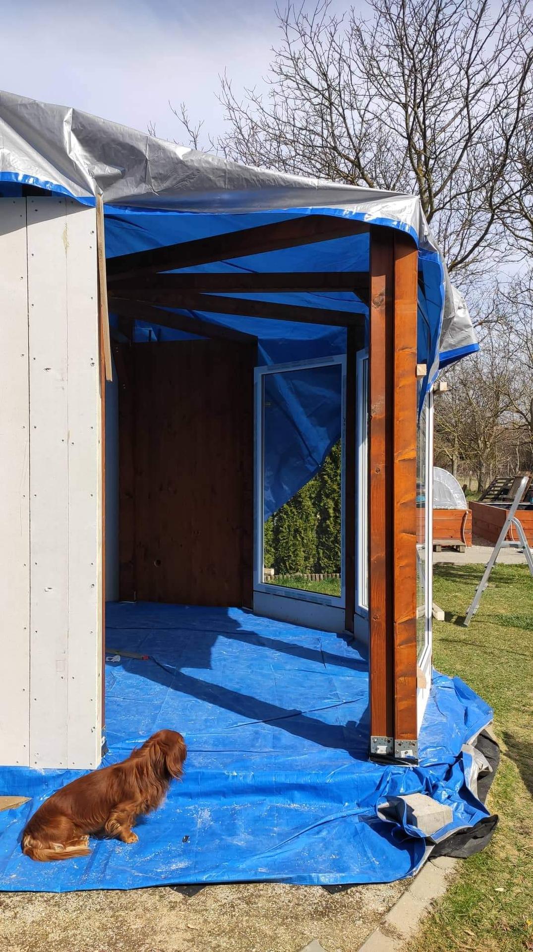 Relaxačný domček sauna a oddychová miestnosť ... plány, príprava a realizácia - Obrázok č. 83