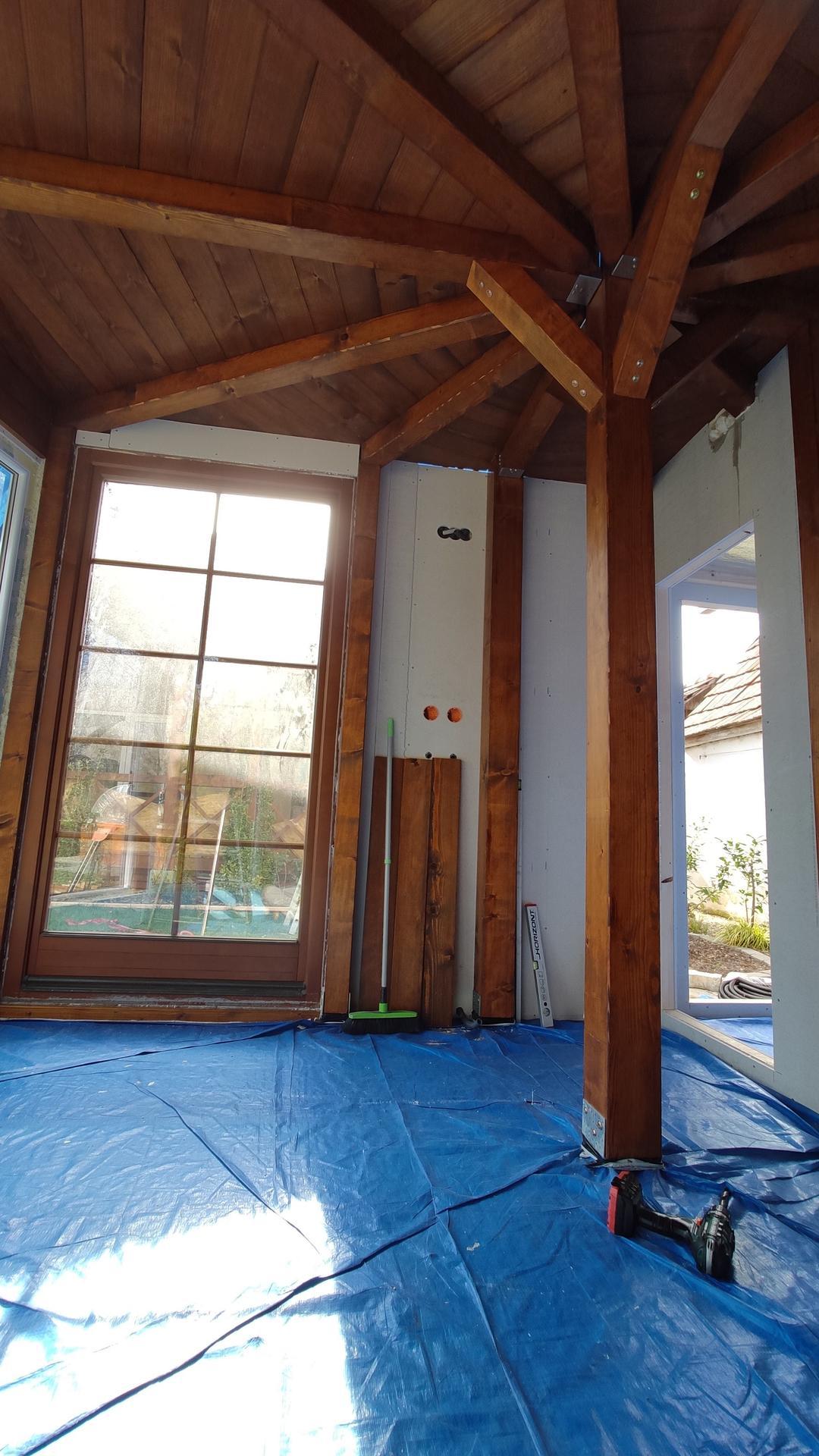 Relaxačný domček sauna a oddychová miestnosť ... plány, príprava a realizácia - Obrázok č. 95