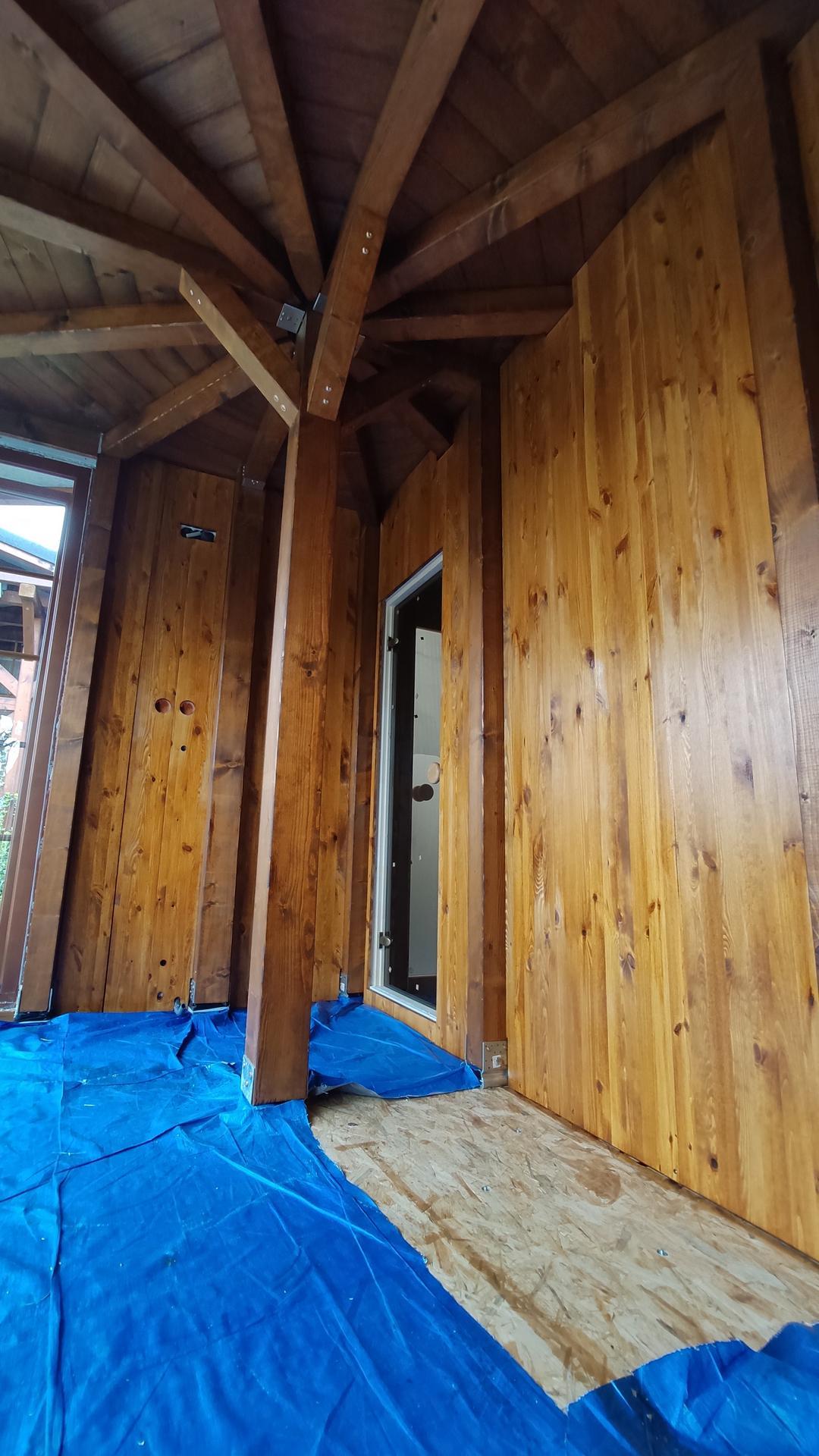 Relaxačný domček sauna a oddychová miestnosť ... plány, príprava a realizácia - Obrázok č. 98