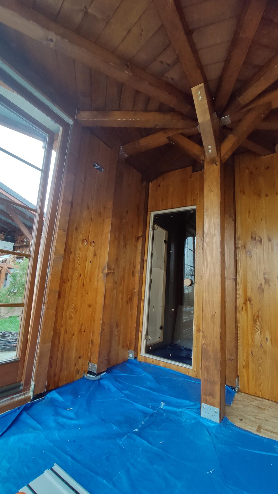 Relaxačný domček sauna a oddychová miestnosť ... plány, príprava a realizácia - Obrázok č. 100