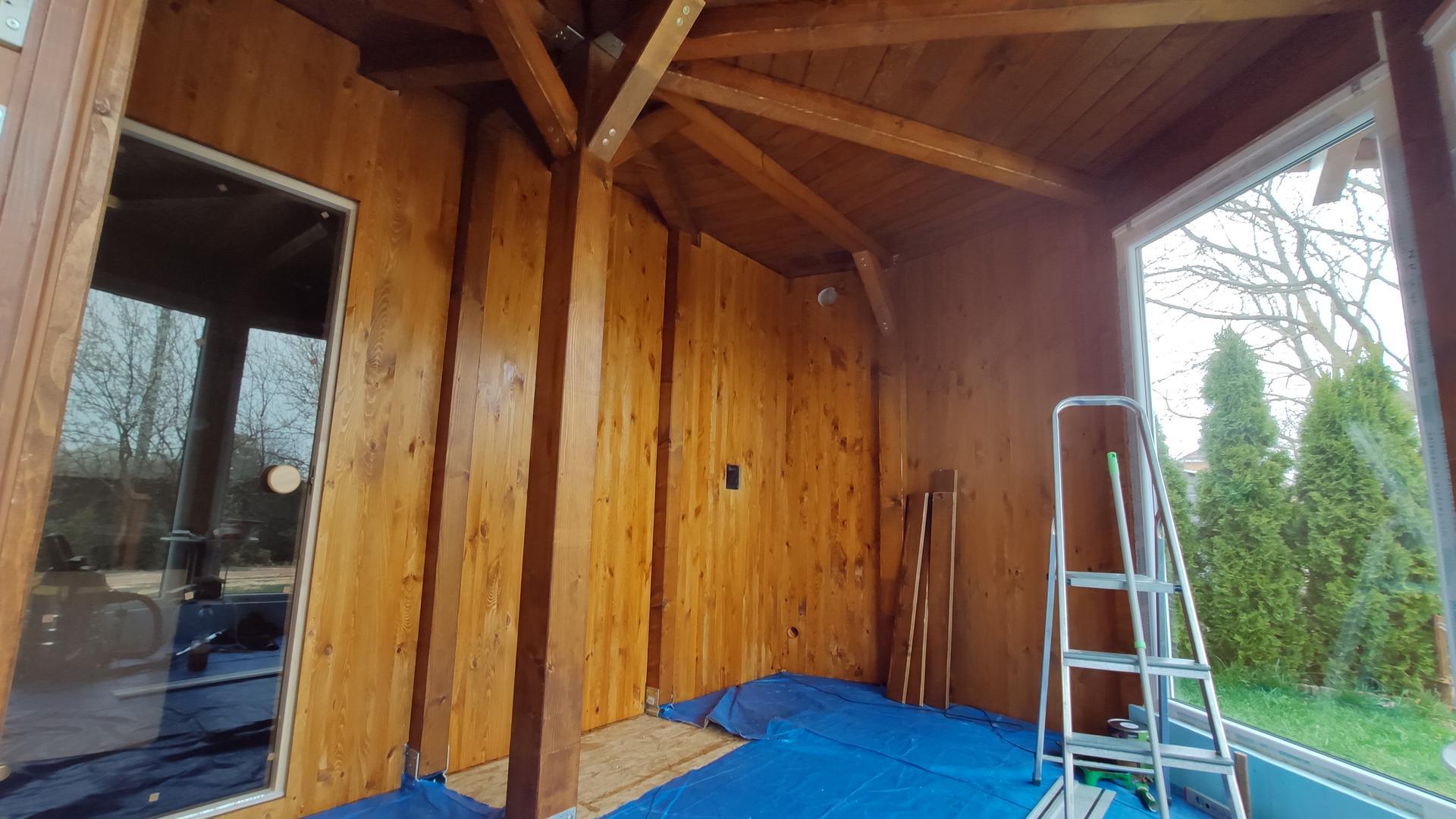 Relaxačný domček sauna a oddychová miestnosť ... plány, príprava a realizácia - Obrázok č. 101