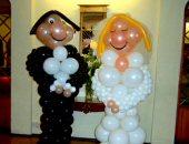 novomanželé z balónků