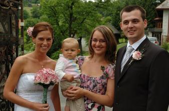 S nejmladším svatebčánkem.
