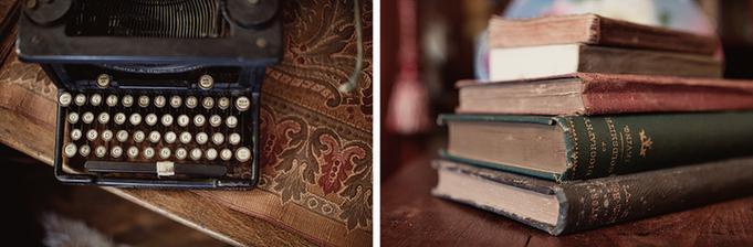 a staré písacie stroje a knihy!