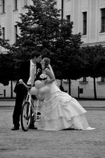 a oldschoolový bicykel!