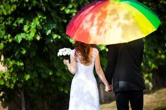 dúhový dáždnik!
