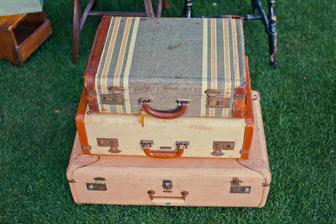 Všetko handmade :o) - staré kufre... :o)