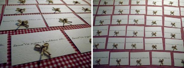 kartičky s pozvaním k svadobnému stolu :o)