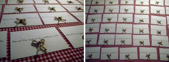 Všetko handmade :o) - kartičky s pozvaním k svadobnému stolu :o)