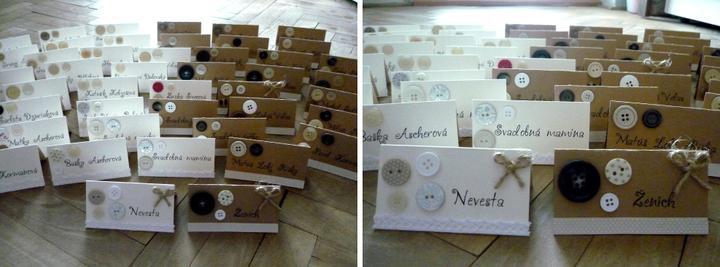Všetko handmade :o) - a našehandmade menovky na stoly... :o)